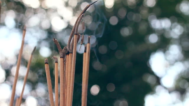 incense sticks - incense stock videos & royalty-free footage