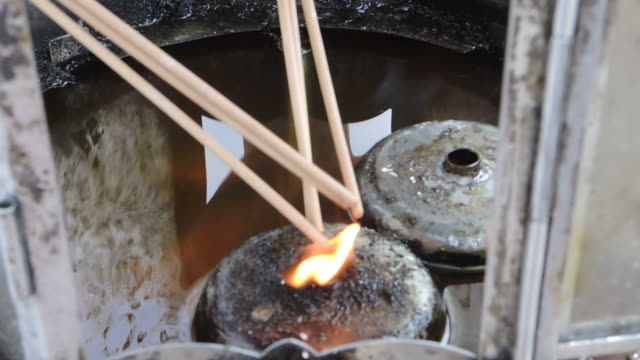 incense was lit by the fire of lanterns - incense stock videos & royalty-free footage