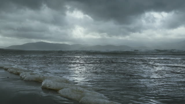 Inch Beach On Dingle Peninsula At Heavy Weather