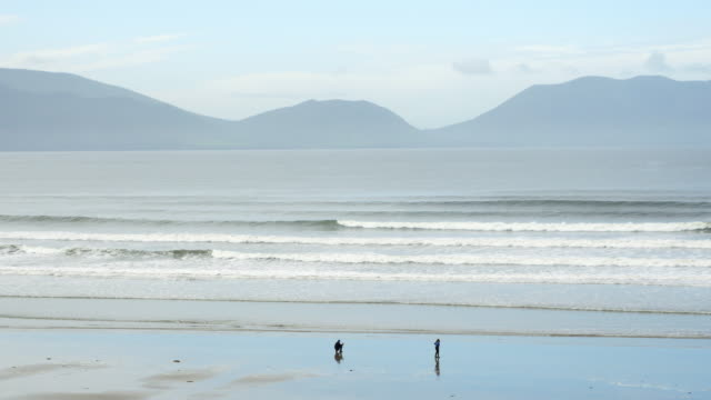inch beach on dingle peninsula - inch stock videos & royalty-free footage