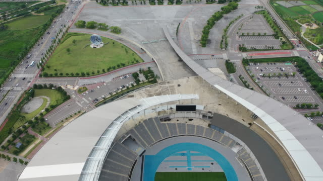 incheon asiad main stadium / seo-gu, incheon, south korea - local landmark stock videos & royalty-free footage
