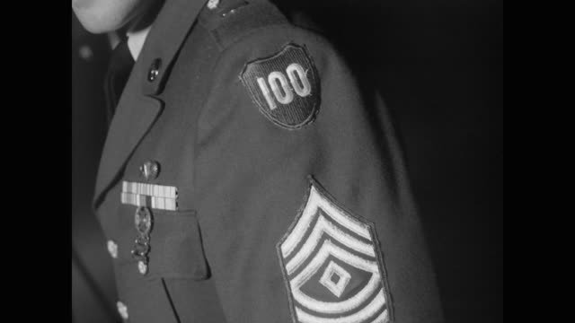 including 100th division, 49th armored division, army corps iii, 101st airborne, 11th airborne division military patches - 1962 stock videos & royalty-free footage
