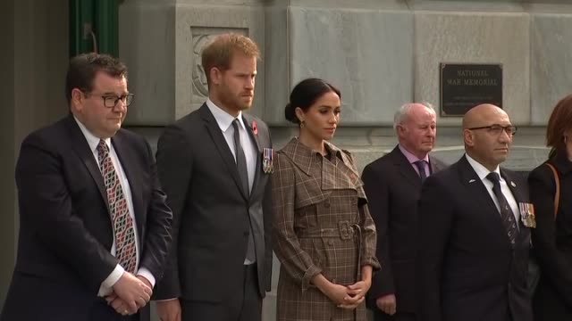 Including Minister for Finance Grant Robertson and Minister for Defence Ron Mark flanking the Royal couple