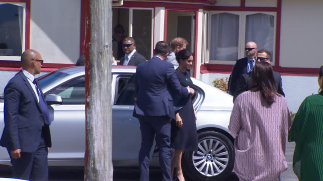 including royal couple arrive at st faith's anglican church in ohinemutu. - security staff stock videos & royalty-free footage
