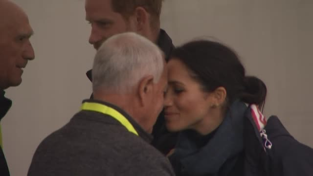 including royal couple hongi with maori elders from host party - meghan duchess of sussex stock videos and b-roll footage