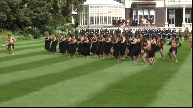 Including Royal couple observing haka performance