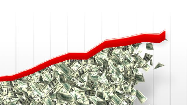 vídeos de stock, filmes e b-roll de renda dinheiro crescente gráfico - crescimento