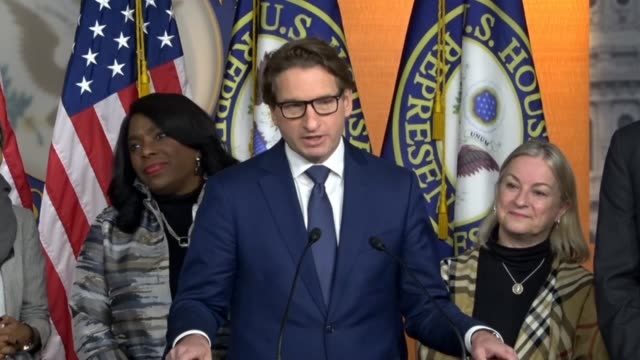 incoming congressman dean philips says at a news conference on restoring voting rights that representation begins with listening as colleagues had... - restoring stock videos & royalty-free footage
