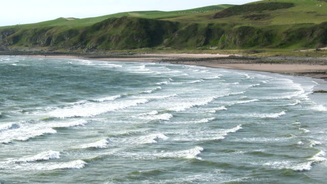 Marée entrants Killantringan baie de Dumfries et de Galloway