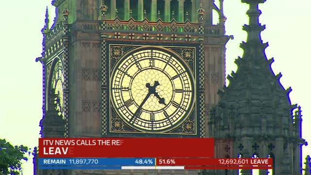 increase in racist and xenophobic attacks since brexit referendum vote; file / tx excerpt itv news coverage of eu referendum results including... - brexit stock videos & royalty-free footage