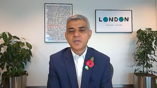 increase to voluntary real living wage announced; england: london: int sadiq khan interview via the internet sot. - on london living wage - itv london lunchtime news stock videos & royalty-free footage