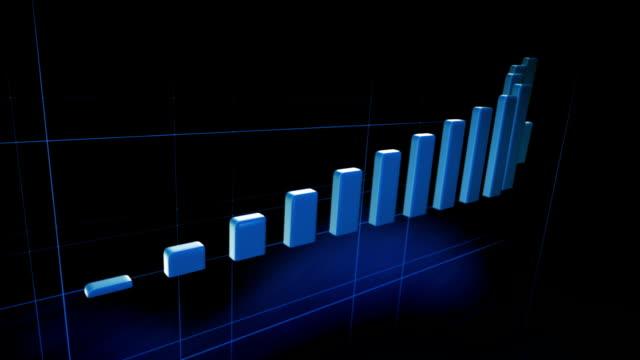 wachsende diagramm sie in treppen (blue, black)-loop - wettbewerb konzepte stock-videos und b-roll-filmmaterial