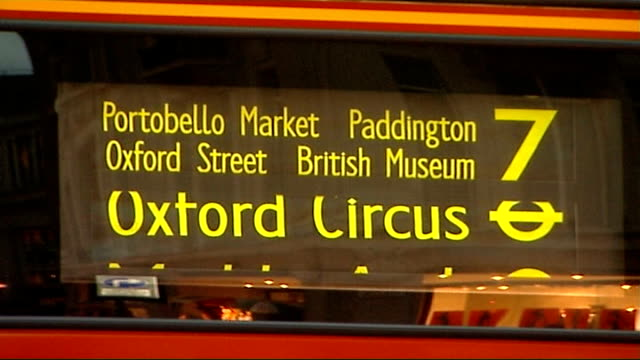 increasing numbers likely to become insolvent in 2007 london oxford street ext sale signs outside shops number 7 bus destination board sales shoppers... - number 7 stock videos & royalty-free footage