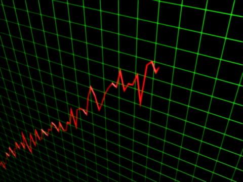 stockvideo's en b-roll-footage met increasing profit graph - graph