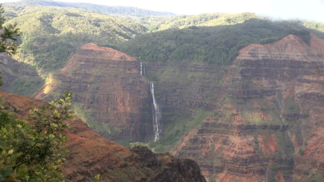 incredible scenery on kauai island in afternoon - butte rocky outcrop stock videos & royalty-free footage