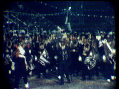 independence ceremony; brass band towards playing sot - brass stock videos & royalty-free footage