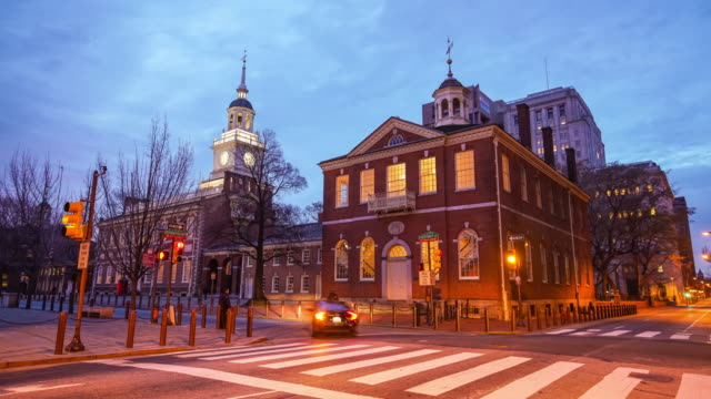 independence hall a philadelphia, pennsylvania. - philadelphia pennsylvania video stock e b–roll