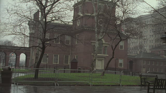 independence hall stands in philadelphia. - independence hall stock videos & royalty-free footage