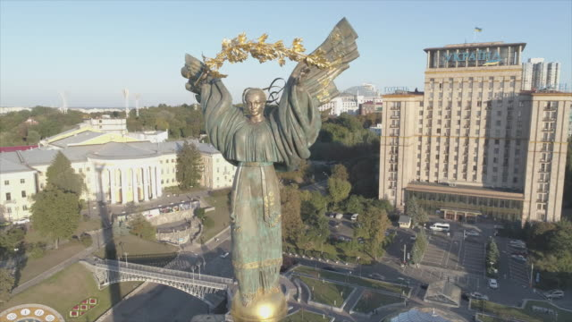 independence monument, kiev - ukraine stock-videos und b-roll-filmmaterial