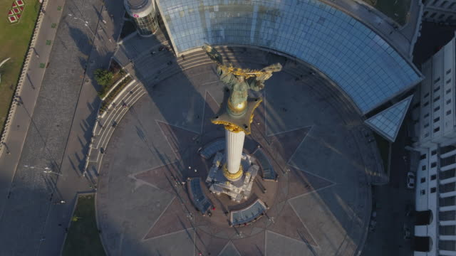 independence monument, kiev - statue stock videos & royalty-free footage