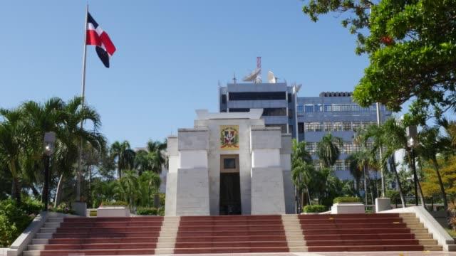 independence park in santo domingo, dominican republic - capitali internazionali video stock e b–roll