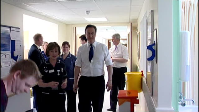 independent health body says nhs must end 'hospital or bust' attitude to medical care lib photography** david cameron mp nick clegg mp and andrew... - ニック クレッグ点の映像素材/bロール