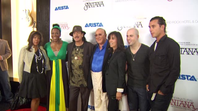 India Arie Carlos Santana Clive Davis Olivia Harrison Chris Daughtry and Gavin Rossdale at the Clive Davis Carlos Santana Host VIP Listening Party at...
