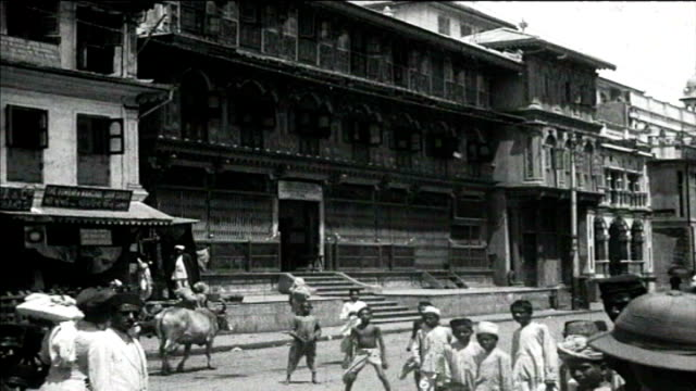 1925 india - busy city street - cart stock videos & royalty-free footage