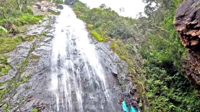 india caru waterfall in merida state venezueal - venezuela stock videos & royalty-free footage