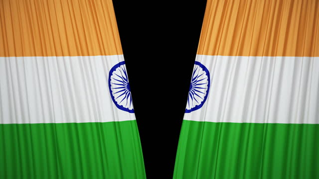 india flag curtain cloth - indian politics stock videos & royalty-free footage