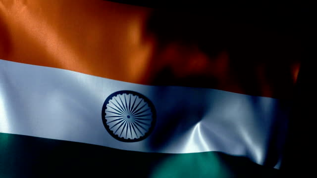 india flag flapping - china east asia stock videos & royalty-free footage