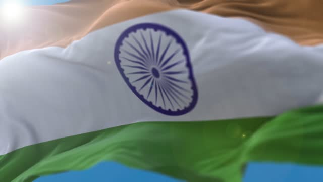 india flag flowing in the wind - patriotism stock videos & royalty-free footage
