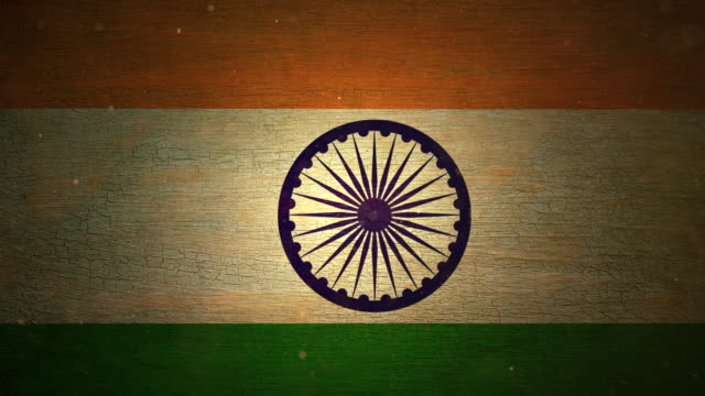india flag - grunge. 4k - indian flag stock videos & royalty-free footage
