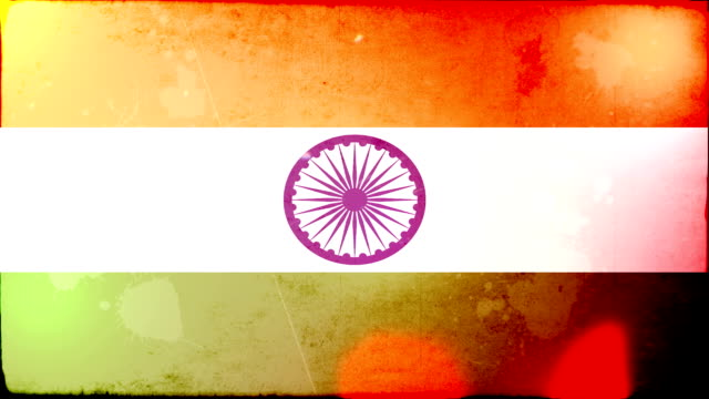 india flag - grunge. hd - frayed stock videos & royalty-free footage