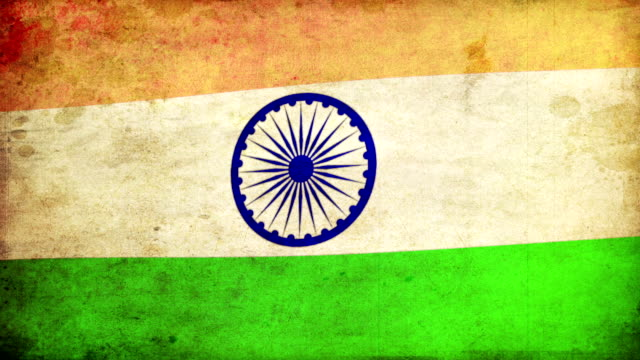 india flag - grunge. hd - indian flag stock videos & royalty-free footage