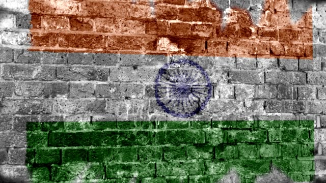 india flag grunge wall. 4k - indian flag stock videos & royalty-free footage
