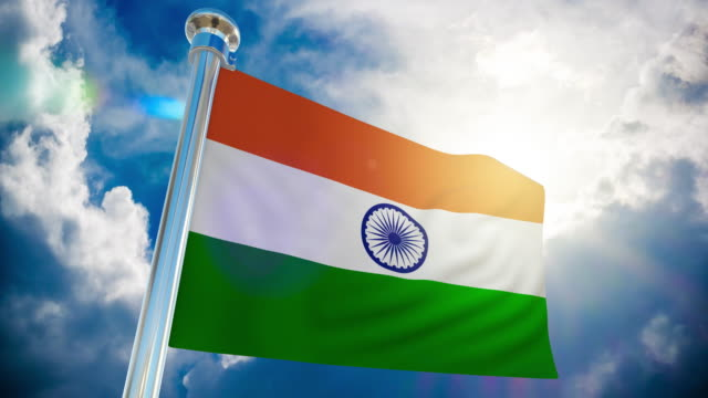 4k - india flag   loopable stock video - independence stock videos & royalty-free footage