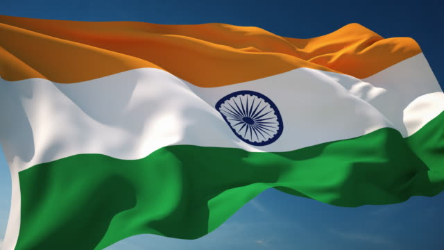 4k india flag - loopable - indian flag stock videos & royalty-free footage