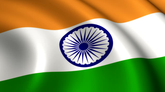 india flag loopable - indian flag stock videos & royalty-free footage