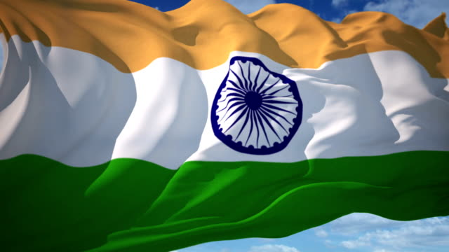 india flag - indian flag stock videos & royalty-free footage