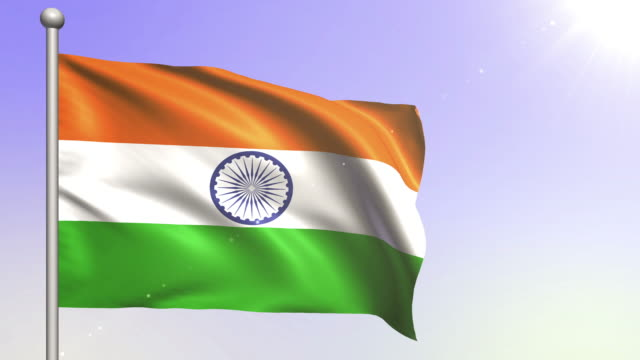 4k india flag (loopable) - indian flag stock videos & royalty-free footage
