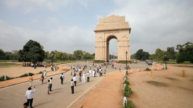 India Gate, the 42 metre high India Gate is at the eastern end of Rajpath, India, Delhi, New Delhi