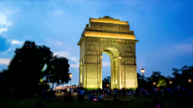 india gate - tourist stock videos & royalty-free footage