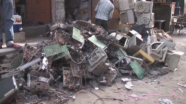 india has entered the era of consumption and with it produced piles of ewaste delhi india - e waste stock videos & royalty-free footage