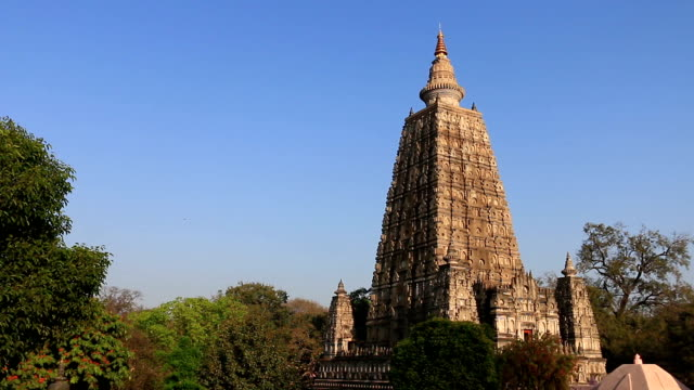 india, mahabodhy temple - buddha stock videos & royalty-free footage
