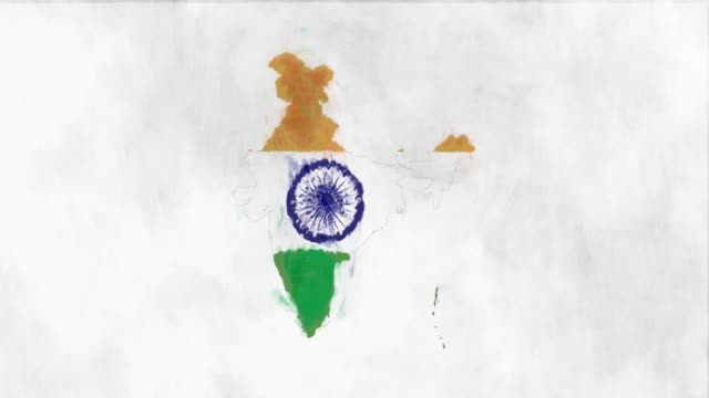india map flag - south asia stock videos and b-roll footage