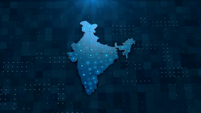 4k india map links 4k with full background details - pilgrim stock videos & royalty-free footage
