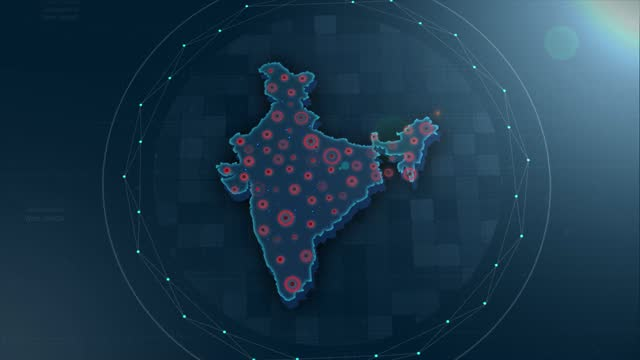 4k india map links 4k with full background details - indian politics stock videos & royalty-free footage