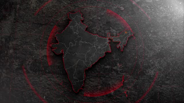 4k india map with background hud details - india politics stock videos & royalty-free footage