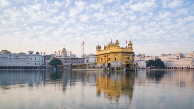 India, Punjab, Amritsar, (Golden Temple), The Harmandir Sahib, one of the most revered spiritual sites of Sikhism - time lapse